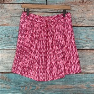 Vineyard Vines Pink and White Tie Skirt Small